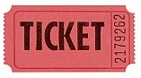 Red Admission Ticket