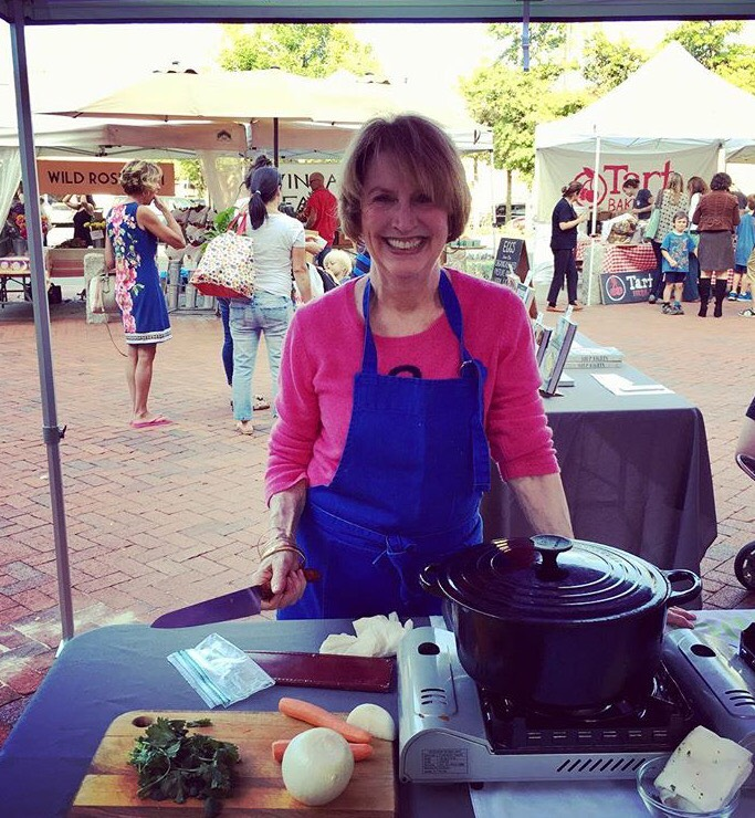 Betty Rosbottom Is Getting Ready To Start Her Cooking Demo