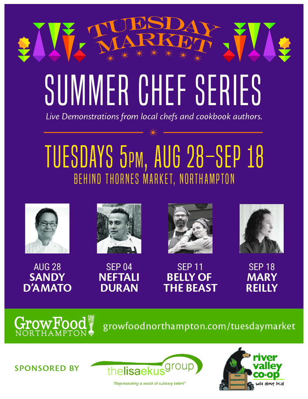 2018 Tuesday Market Summer Chef Series
