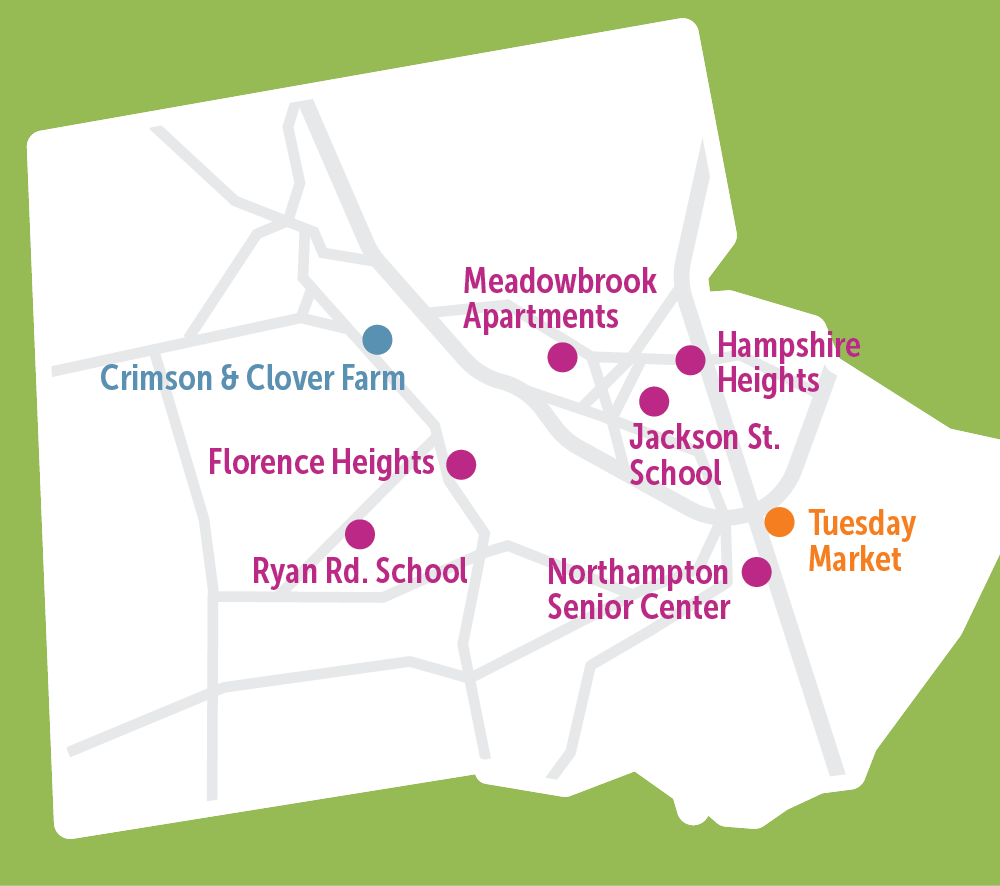 Grow Food Neighborhood Markets Map