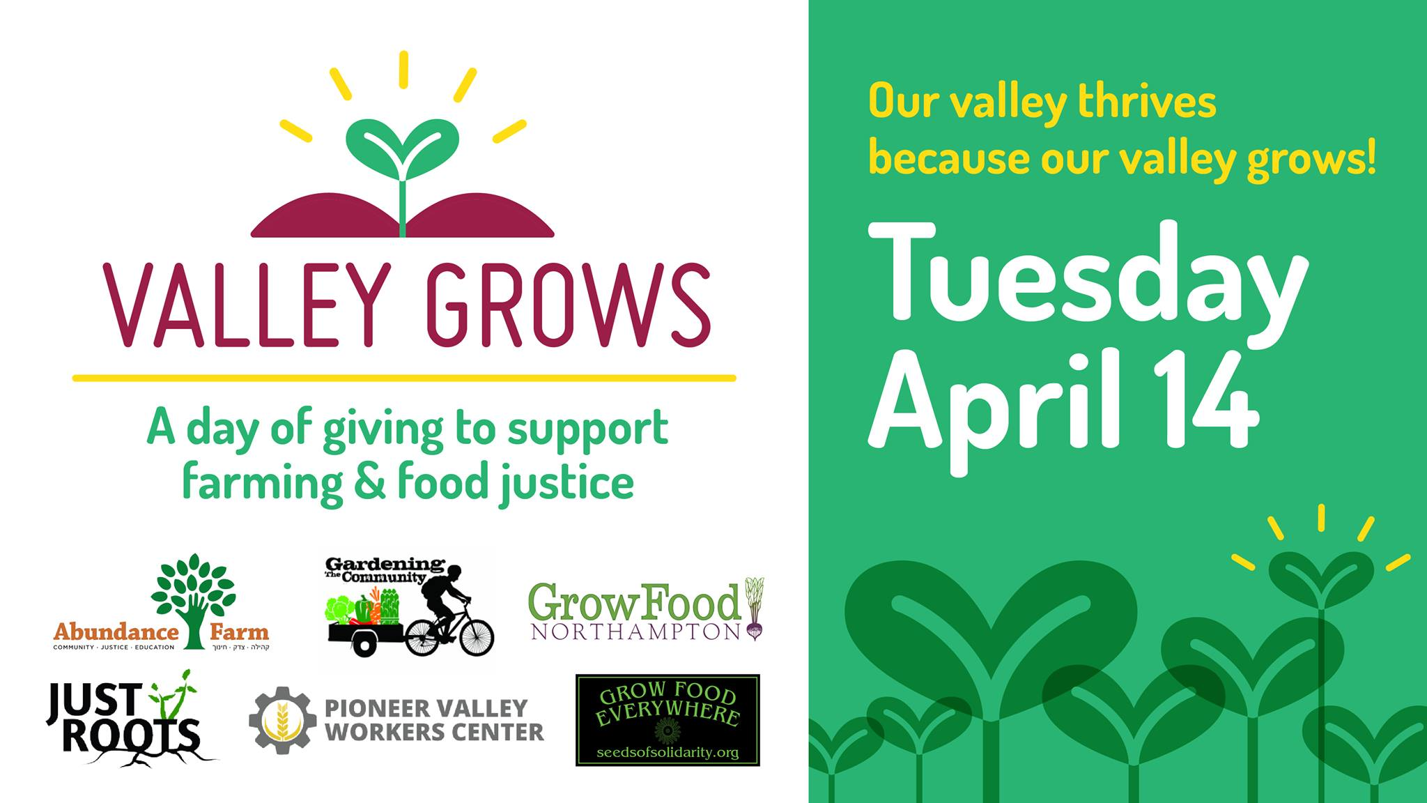Valley Grows Day Is April 14, 2020- Support The Community Food Distribution Project- Donate Now
