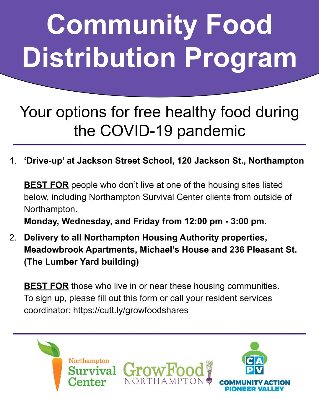 COVID-19 Community Food Distribution Project